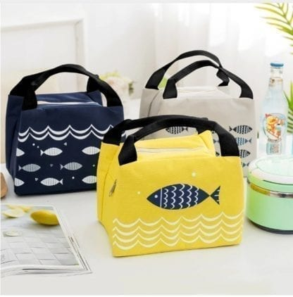 Fish Print Portable Lunch Bag 1