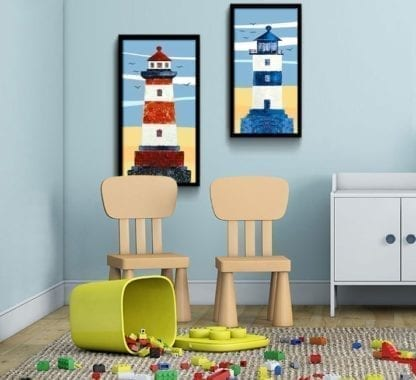 Old Lighthouse Canvas Poster 3