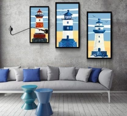 Old Lighthouse Canvas Poster 1