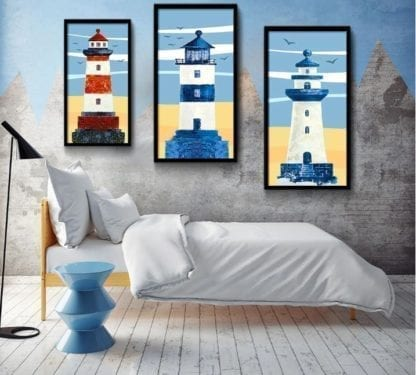 Old Lighthouse Canvas Poster 2