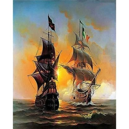 Ship Canvas Painting by Numbers 1