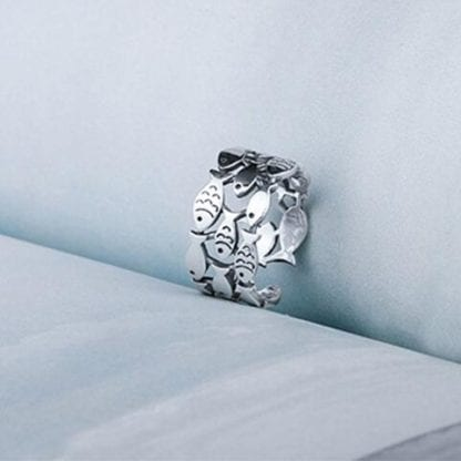 Women's Little Fishes 925 Sterling Silver Ring 1