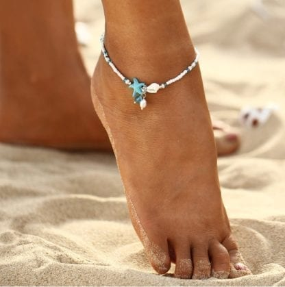 Women's Star Fish Pendant Anklet 1