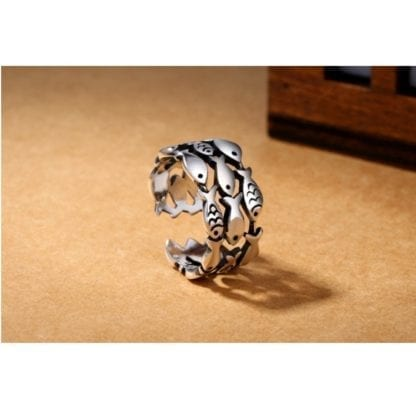 Women's Little Fishes 925 Sterling Silver Ring 3