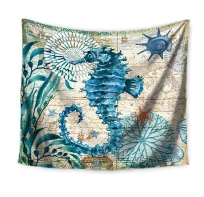 Vintage Style Sea Print Wall Tapestry 5