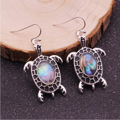 Women's Sea Shell Turtle Drop Earrings 1