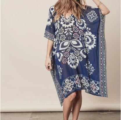Women's Boho Print Chiffon Beach Cover Up 1