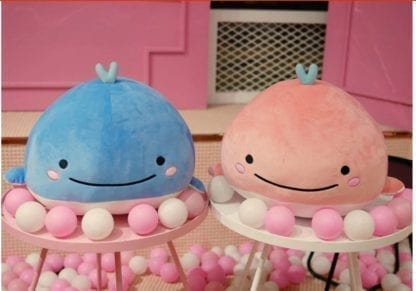 Kid's Happy Whale Plush Toy 2