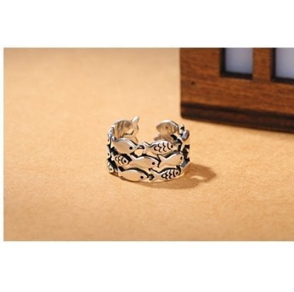 Women's Little Fishes 925 Sterling Silver Ring 5