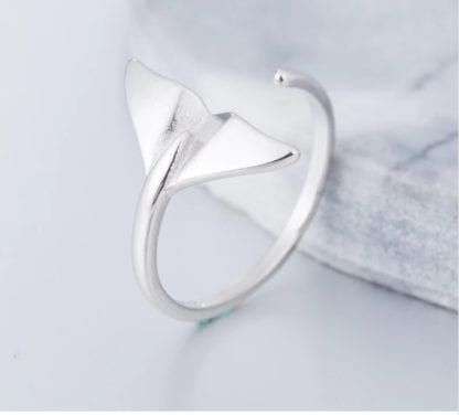Women's Silver Whale Tail Ring 3