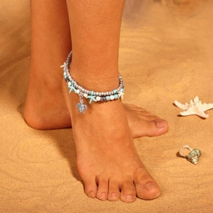 Women's Turtle Double Anklet 1