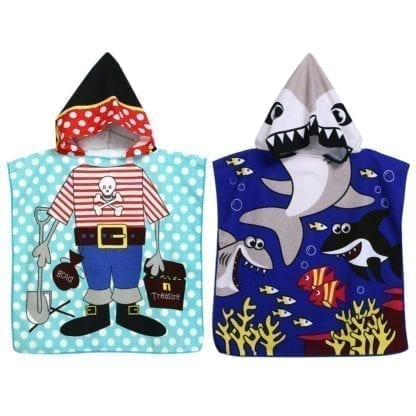 Kid's Shark / Pirate Style Hooded Towel 1
