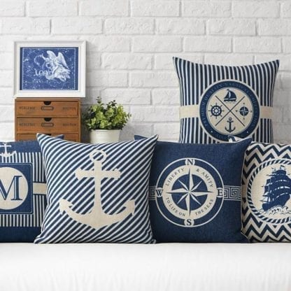 Marine Style Print Cushion Cover 1