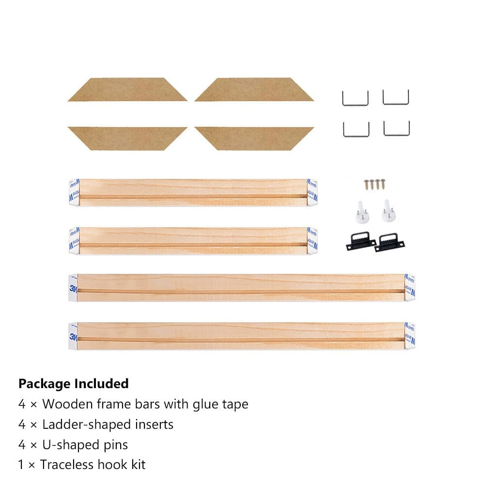 4Pcs Set Wood Frame Stretcher For Canvas and Paintings 4