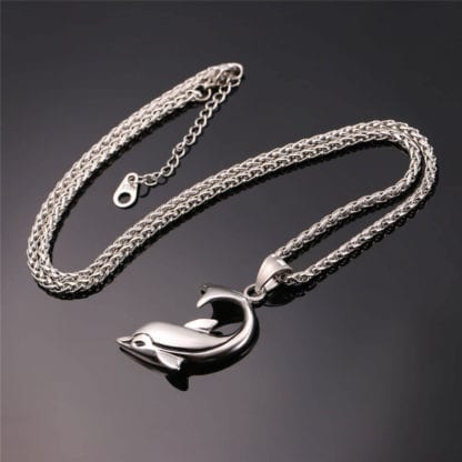 Stainless Steel Dolphin Necklace 5