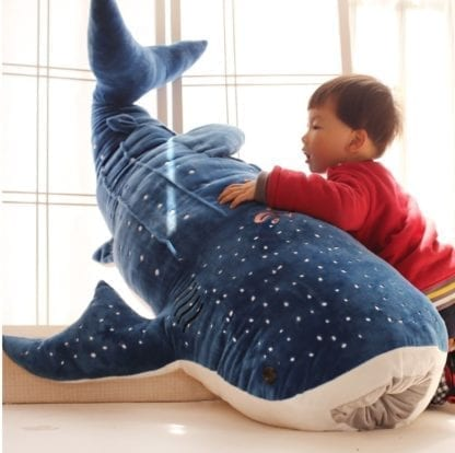 Giant Blue Whale Shark Plush Toy 1