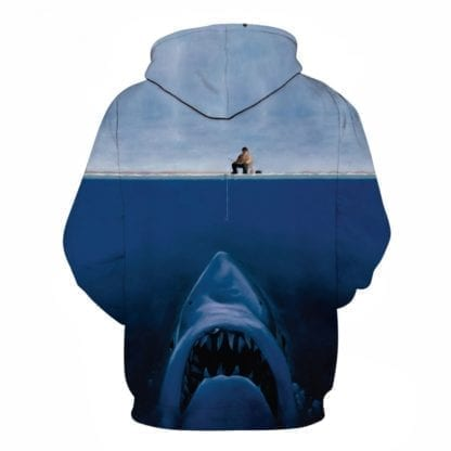 Men's Big Shark 3D Print Hoodie 1