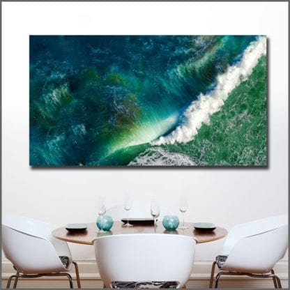Emerald Wave Canvas Print 3
