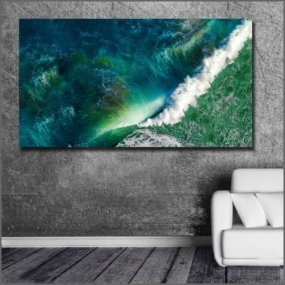 Emerald Wave Canvas Print 4