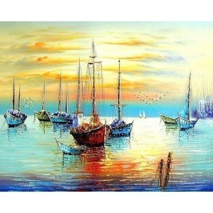 Ship Canvas Painting by Numbers 6