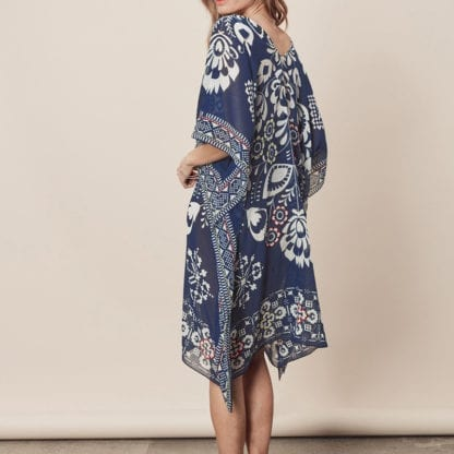 Women's Boho Print Chiffon Beach Cover Up 4