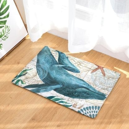 Watercolor Sea Anti-Slip Rug 3