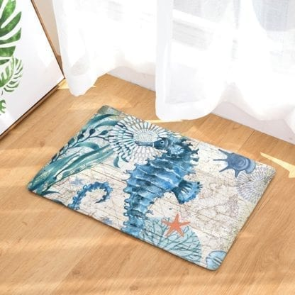 Watercolor Sea Anti-Slip Rug 2