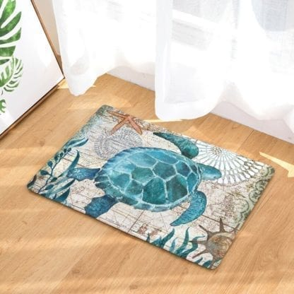 Watercolor Sea Anti-Slip Rug 4