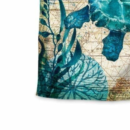 Vintage Style Sea Print Wall Tapestry 3