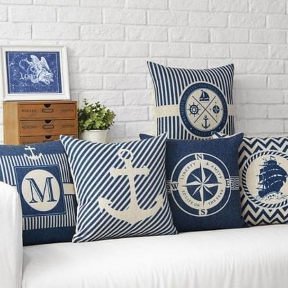 Marine Style Print Cushion Cover 3