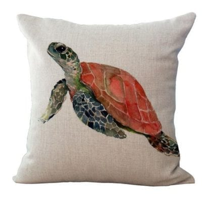 Watercolor Sea World Print Cushion Cover 5