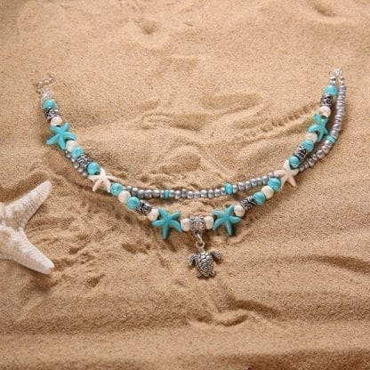 Women's Turtle Double Anklet 3