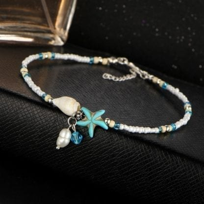 Women's Star Fish Pendant Anklet 3