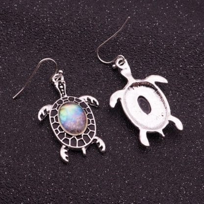 Women's Sea Shell Turtle Drop Earrings 4
