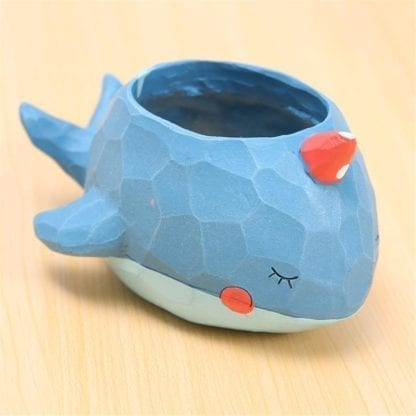 Creative Style Lovely Whale Flower Pot 4
