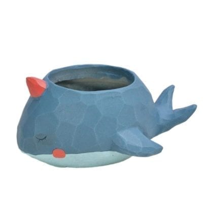 Creative Style Lovely Whale Flower Pot 5