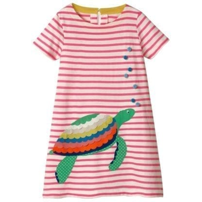 Girl's Mermaid / Turtle Patchwork Style Dress 2