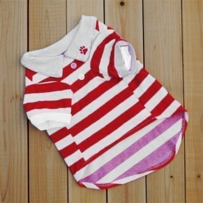 Dog's Little Sailor Striped T-Shirt 3