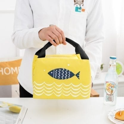 Fish Print Portable Lunch Bag 2