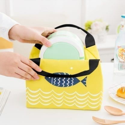 Fish Print Portable Lunch Bag 3
