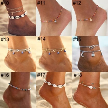 Bohemian Eye Anklets for Ocean Style 3